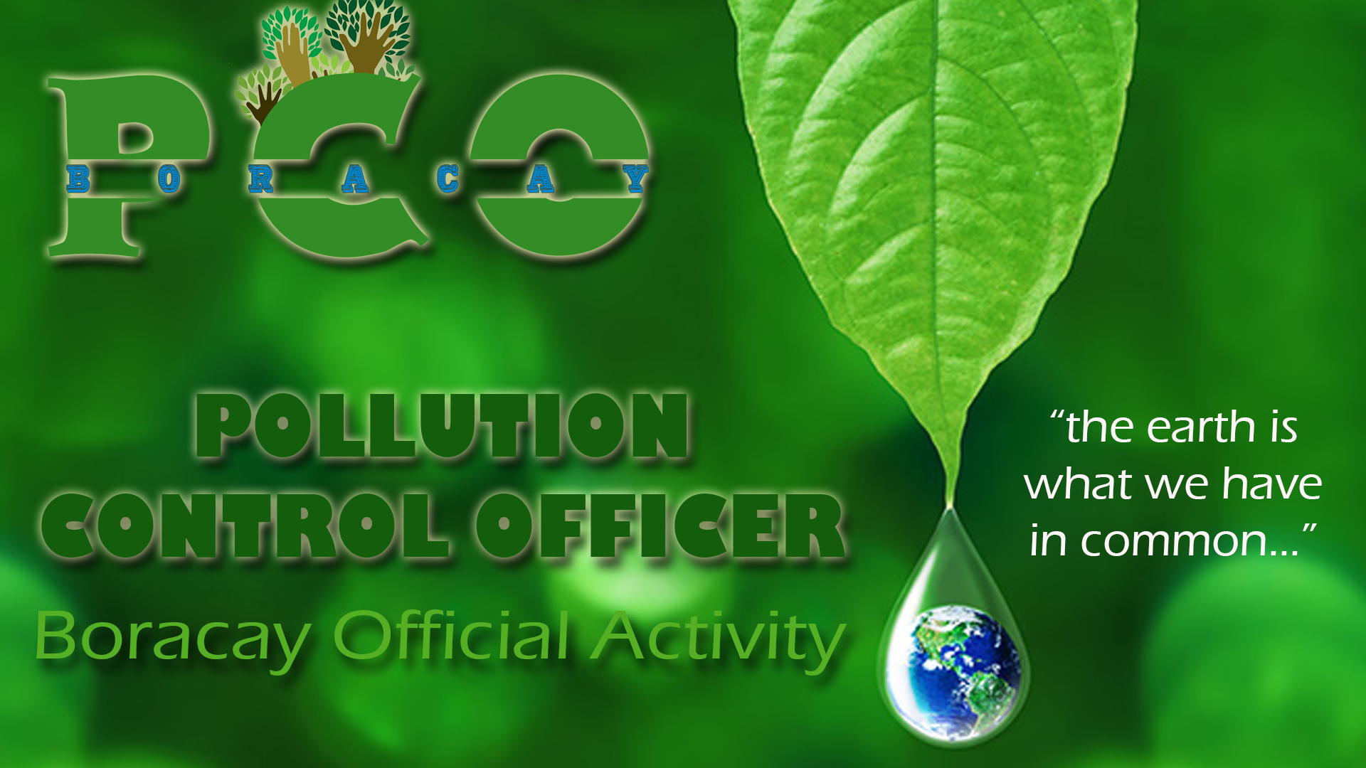 PCO Official Activity Banner